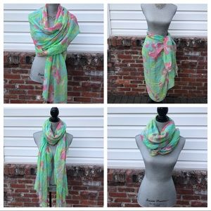 Lilly Pulitzer Wrap Oversized Scarf With Cashmere